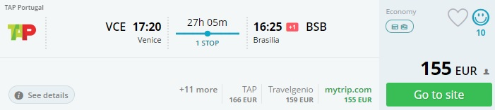 Cheap tickets to BRAZIL from Italy