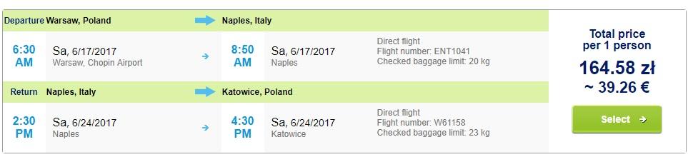 LAST MINUTE flights to NAPLES