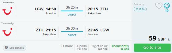 summer flights uk zakynthos