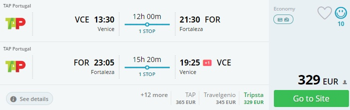 cheap flight tickets to brazil from italy