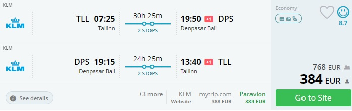 cheap flights from baltic states to bali