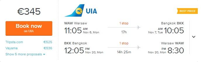 cheap tickets to bangkok from warsaw