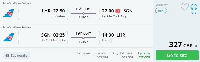 cheap tickets to vietnam from london
