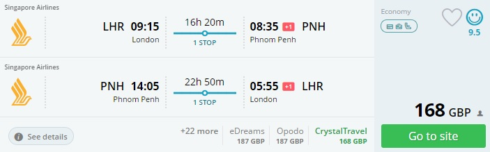 error fare flights to cambodia from london