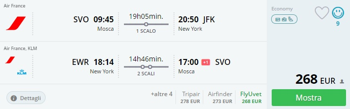 xmas flights from moscow to new york