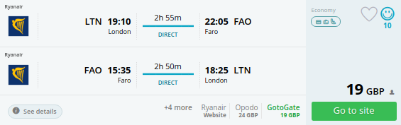 direct flights uk faro