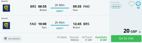 flights uk faro