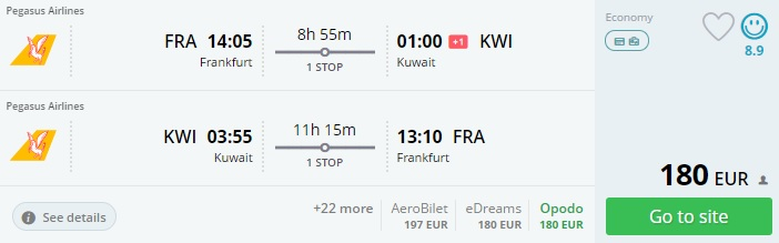 cheap flights from europe to kuwait