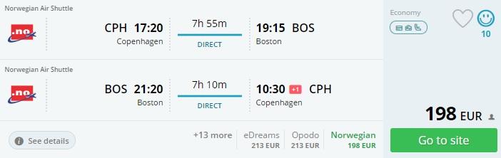 cheap flights to boston from copenhagen