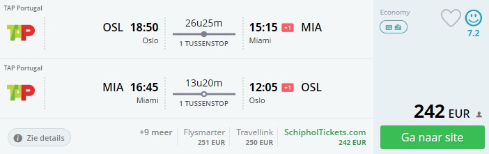 cheap flights to miami from oslo norway