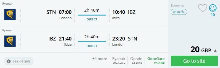 cheap flights uk ibiza