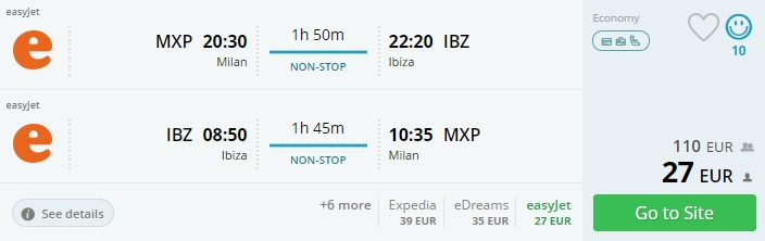cheap tickets to ibiza from milan