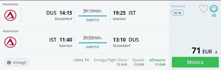 direct flights dusseldorf istanbul
