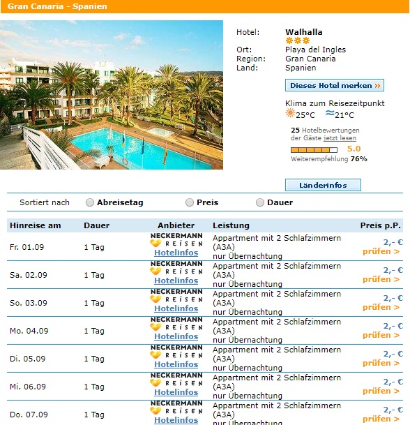 error fare hotel in gran canaria