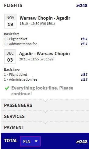 flights warsaw morocco