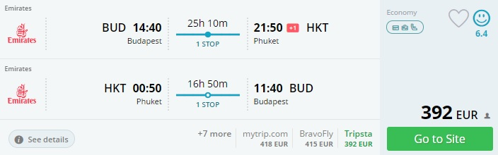 high season flights to phuket from budapest