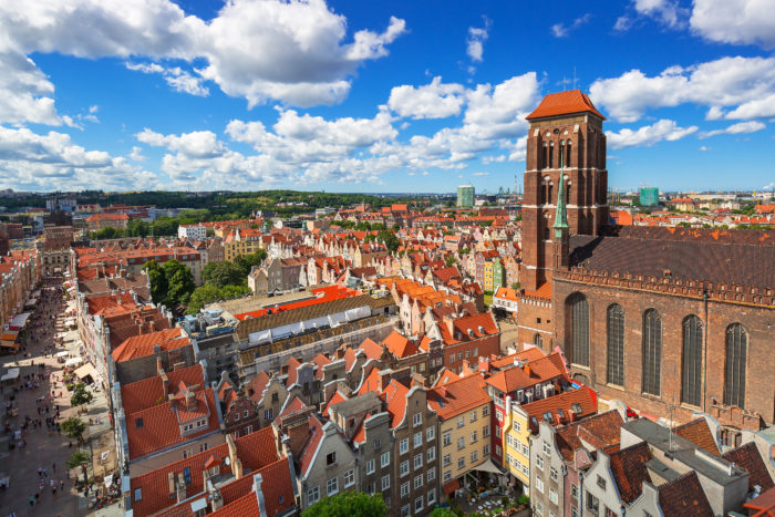 Flights from Vienna to Gdansk for €20, and vice versa too