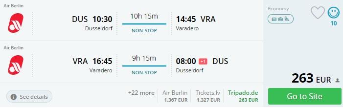 cheap flights from dusseldorf to cuba