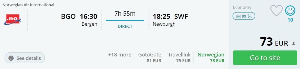 cheap flights to new york from bergen
