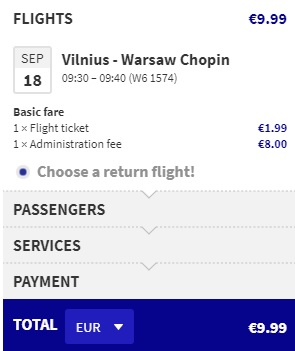 how to travel from warsaw to vilnius