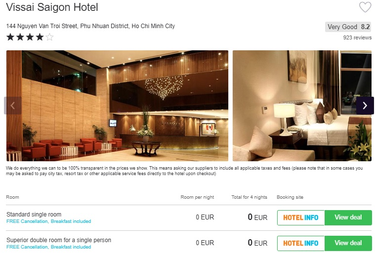free hotel in ho chi minh city vietnam