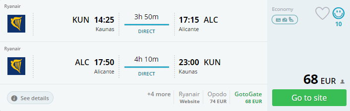 flights to alicante direct