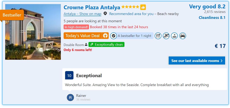 Crowne Plaza Hotel in Antalya
