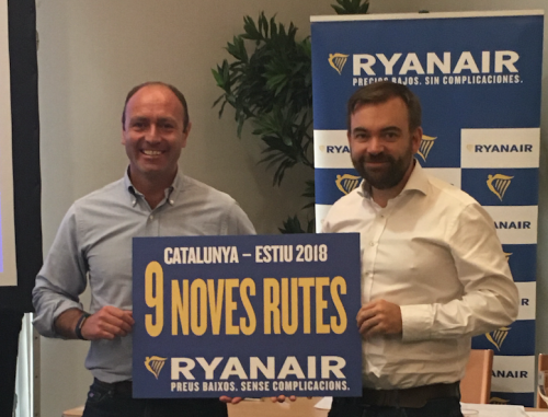 RYANAIR launches CATALONIA Summer 2018 schedule with 9 NEW ROUTES