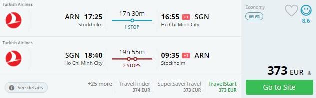 cheap flights stockholm vietnam