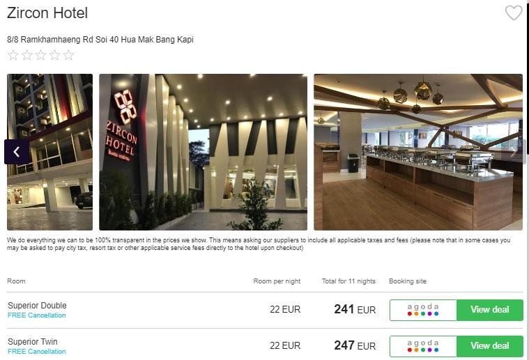 zircon hotel bangkok thailand
