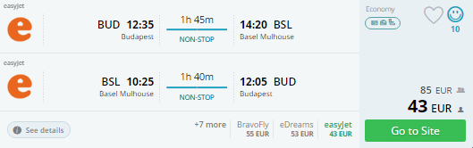 budapest to basel