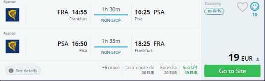 frankfurt to pisa