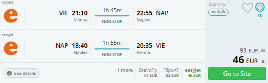 vienna to naples