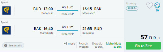 budapest to marrakech