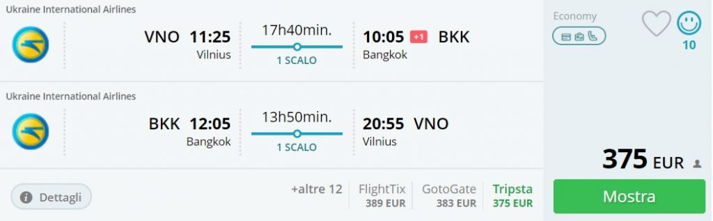 Cheap flights to THAILAND from Lithuania