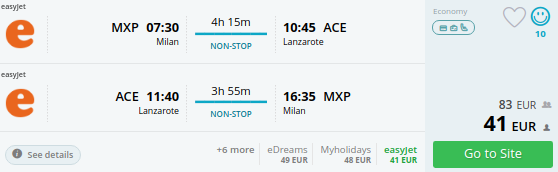 Milan to the Canary Islands