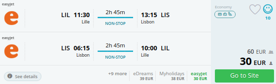 lille to lisbon