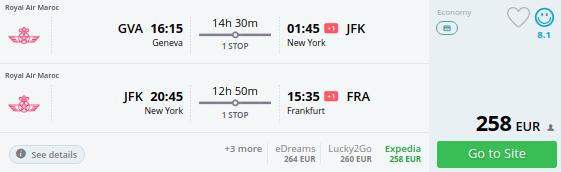 Switzerland to NEW YORK
