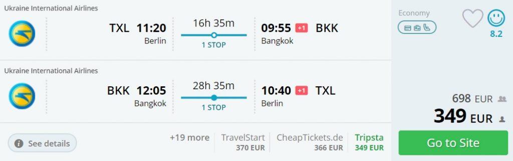 cheap flights berlin thailand