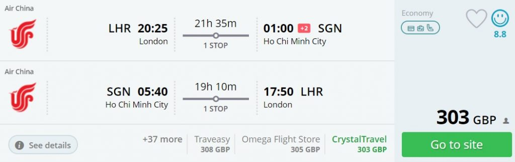 cheap flights from london to ho chi minh city
