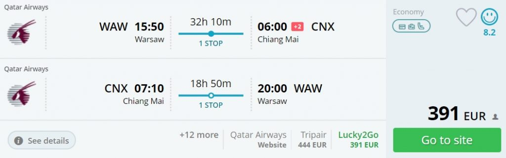 xmas flights to thailand from warsaw