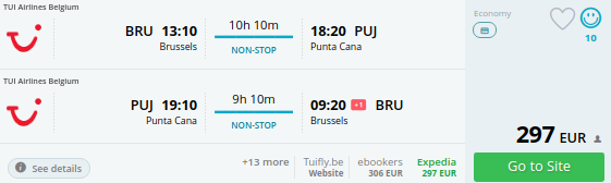 brussels to dominican republic