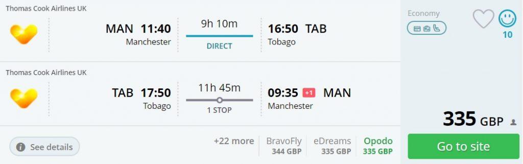 cheap flights manchester trinidad tobago
