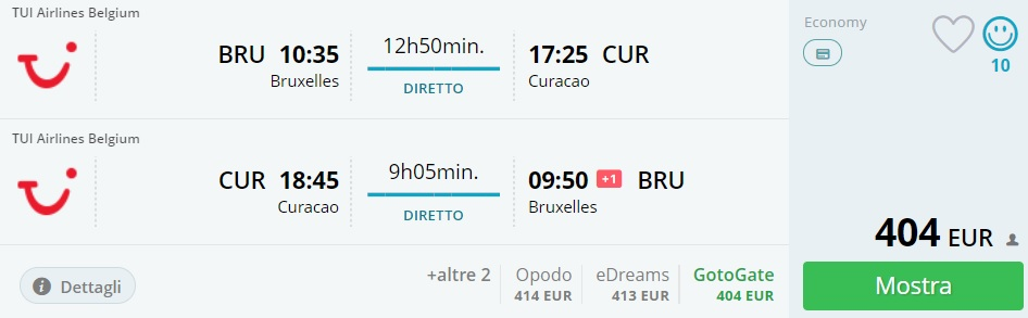 first minute flights from brussels to curacao