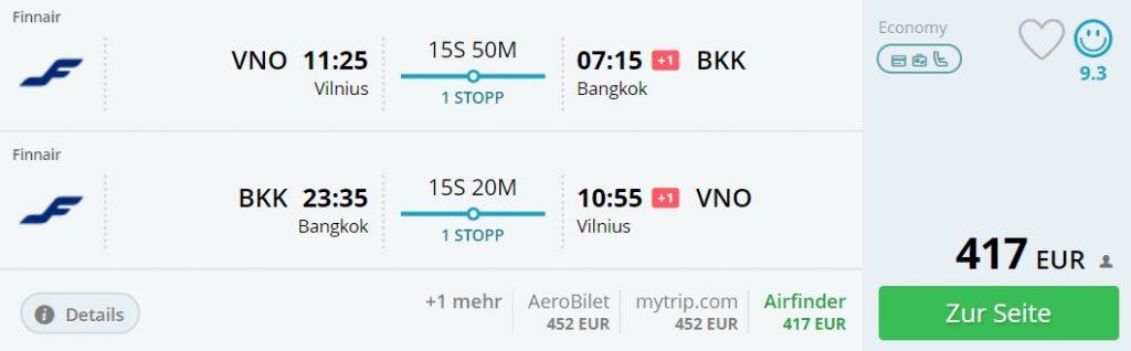 flights from europe to bangkok thailand
