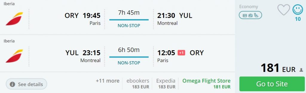 direct flights from paris to us