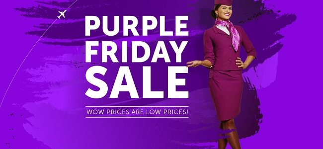 wowair purple friday sale