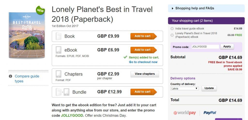 FREE Lonely Planet Best in Travel 2018 eBook