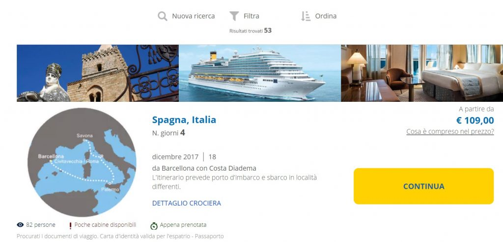Full Board cruise from Barcelona to ITALY