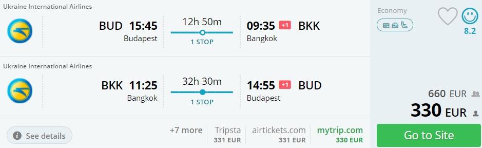cheap flights budapest bangkok thailand
